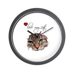 LOVE MY CATS Wall Clock