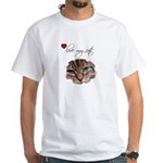 LOVE MY CATS White T-Shirt
