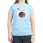 LOVE MY CATS Women's Pink T-Shirt