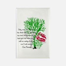 Nature Quote Rectangle Magnet