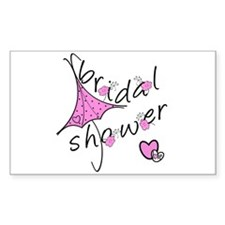 Bridal Shower Rectangle Decal