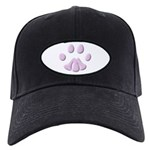 PINK CAT PRINT Black Cap