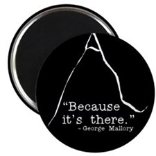 """Because it's there 2.25"""" Magnet (10 pack)"""