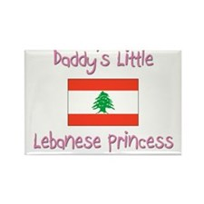 Daddy's little Lebanese Princess Rectangle Magnet