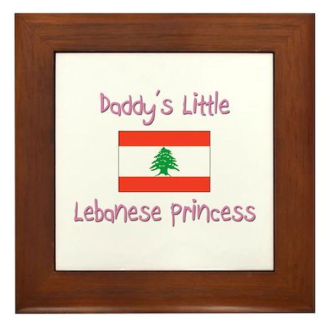 Daddy's little Lebanese Princess Framed Tile