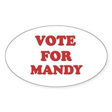 Vote for MANDY Oval Decal