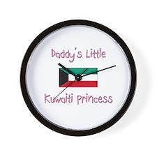 Daddy's little Kuwaiti Princess Wall Clock