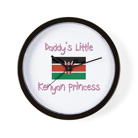 Daddy's little Kenyan Princess Wall Clock