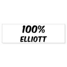 100 Percent Elliott Bumper Bumper Sticker