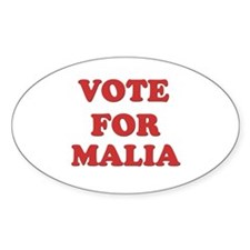 Vote for MALIA Oval Decal
