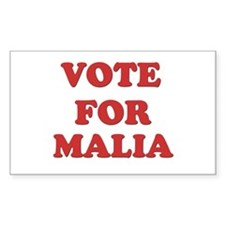 Vote for MALIA Rectangle Decal