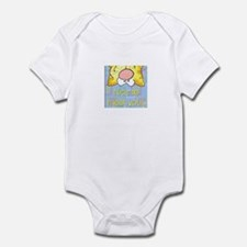 Cute Nice to meet you dog Infant Bodysuit