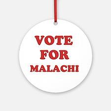 Vote for MALACHI Ornament (Round)