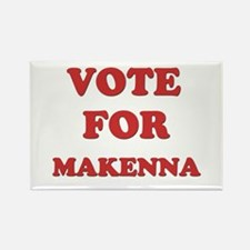 Vote for MAKENNA Rectangle Magnet