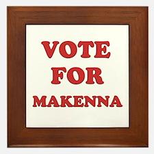 Vote for MAKENNA Framed Tile