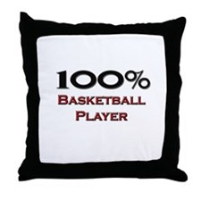 100 Percent Basketball Player Throw Pillow