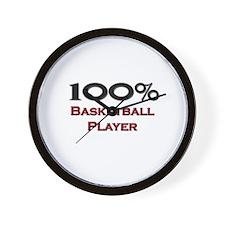 100 Percent Basketball Player Wall Clock