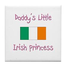 Daddy's little Irish Princess Tile Coaster