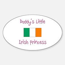 Daddy's little Irish Princess Oval Decal