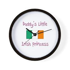 Daddy's little Irish Princess Wall Clock