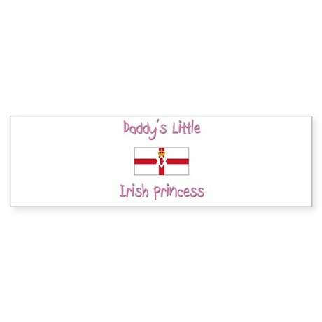 Daddy's little Irish Princess Bumper Sticker