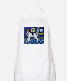WIRE HAIRED FOX TERRIER art BBQ Apron