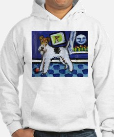 WIRE HAIRED FOX TERRIER art Hoodie