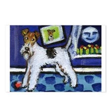 WIRE HAIRED FOX TERRIER art Postcards (Package of