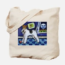 WIRE HAIRED FOX TERRIER art Tote Bag