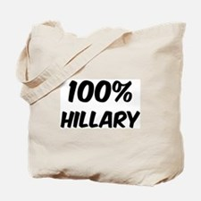 100 Percent Hillary Tote Bag