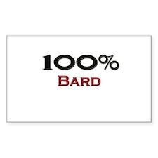 100 Percent Bard Rectangle Decal