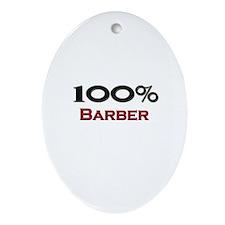 100 Percent Barber Oval Ornament