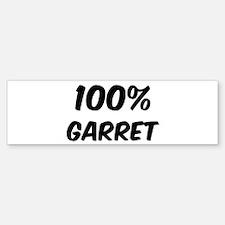 100 Percent Garret Bumper Bumper Bumper Sticker