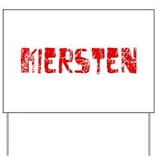 Kiersten Faded (Red) Yard Sign