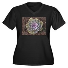 Unique Juicy Women's Plus Size V-Neck Dark T-Shirt