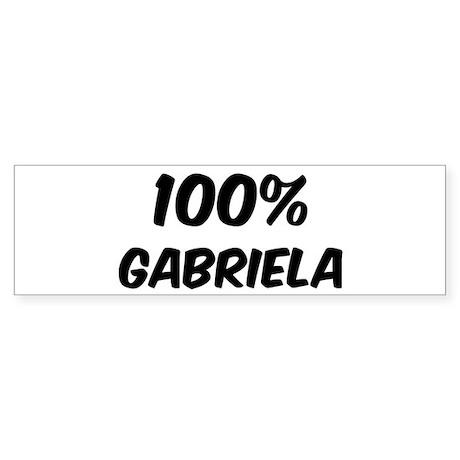100 Percent Gabriela Bumper Sticker