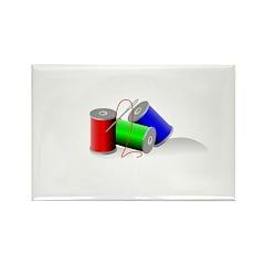 Colorful Thread Spools - Sewi Rectangle Magnet