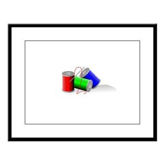 Colorful Thread Spools - Sewi Large Framed Print