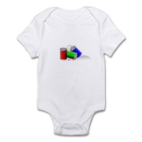 Colorful Thread Spools - Sewi Infant Bodysuit