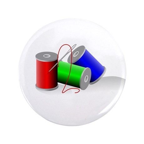 """Colorful Thread Spools - Sewi 3.5"""" Button (100 pac"""