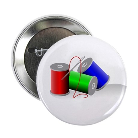"Colorful Thread Spools - Sewi 2.25"" Button (100 pa"
