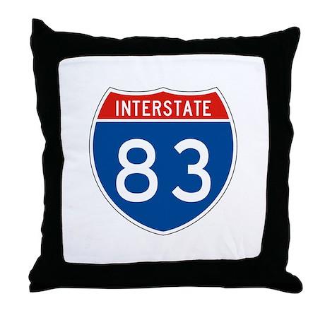 Interstate 83, USA Throw Pillow