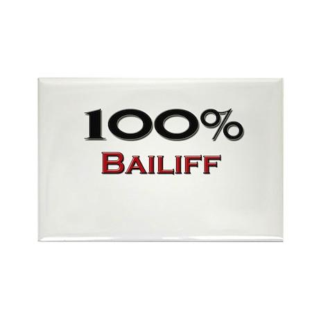100 Percent Bailiff Rectangle Magnet (10 pack)