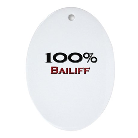 100 Percent Bailiff Oval Ornament