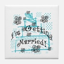 I'm Getting Married Tile Coaster