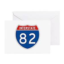 Interstate 82, USA Greeting Cards (Pk of 10)