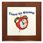 Time to Stamp Framed Tile
