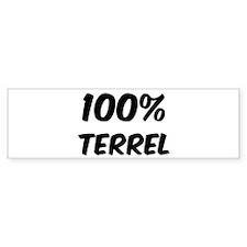 100 Percent Terrel Bumper Bumper Sticker