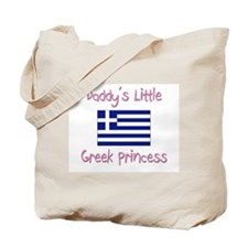 Daddy's little Greek Princess Tote Bag