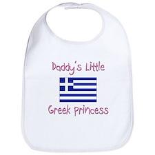 Daddy's little Greek Princess Bib